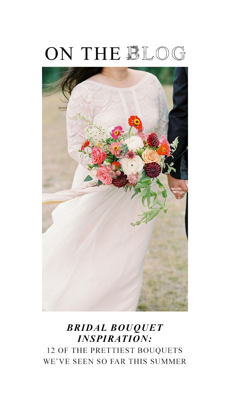 Bridal Bouquet Inspiration for Summer: 12 of the Prettiest Bouquets We've Seen This Summer in Alberta and the Rockies - on the Bronte Bride Blog