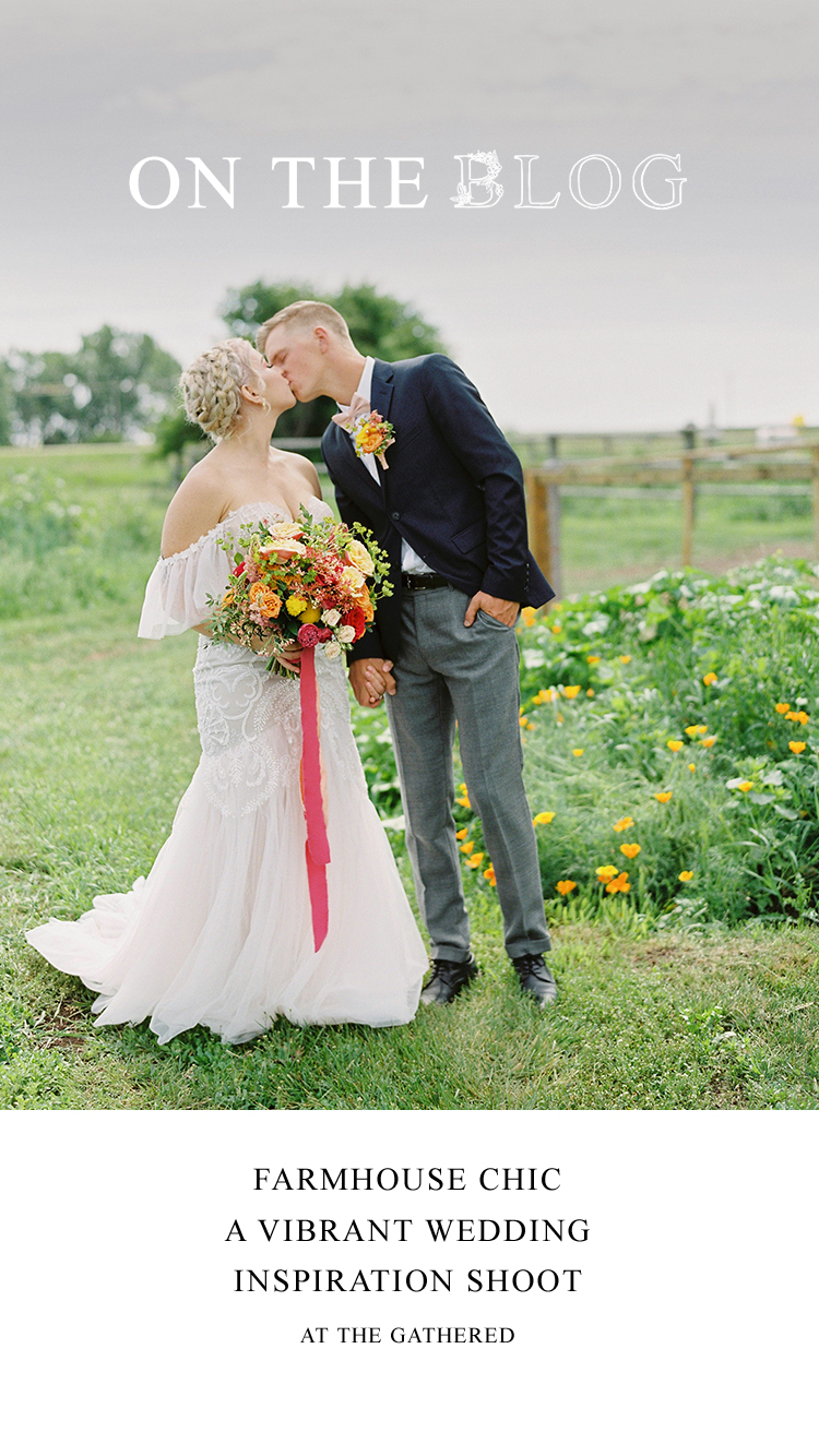 Farmhouse Chic: A Vibrant Wedding Inspiration Shoot at the Gathered
