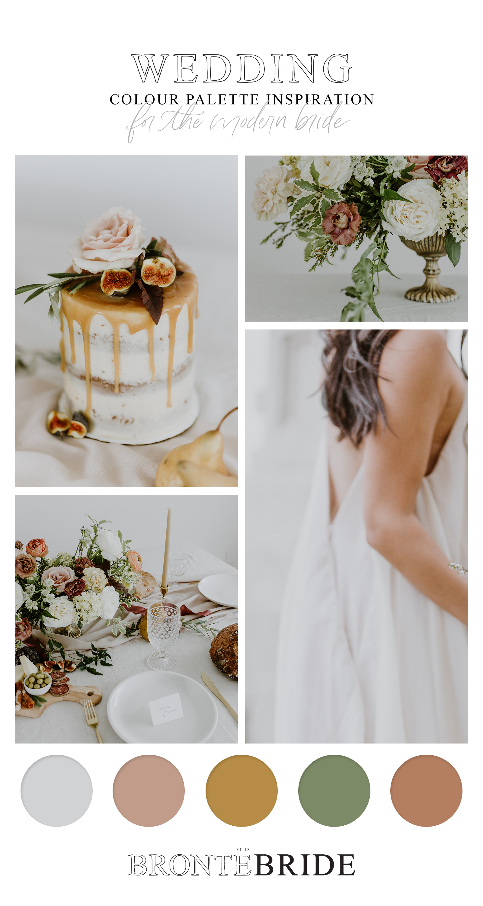 Old-World Romantic Styling Meets Warm Family-Style Gathering // Inspiration Shoot at Spruce Meadows - on the Bronte Bride Blog - Wedding Colour Palette Inspiration