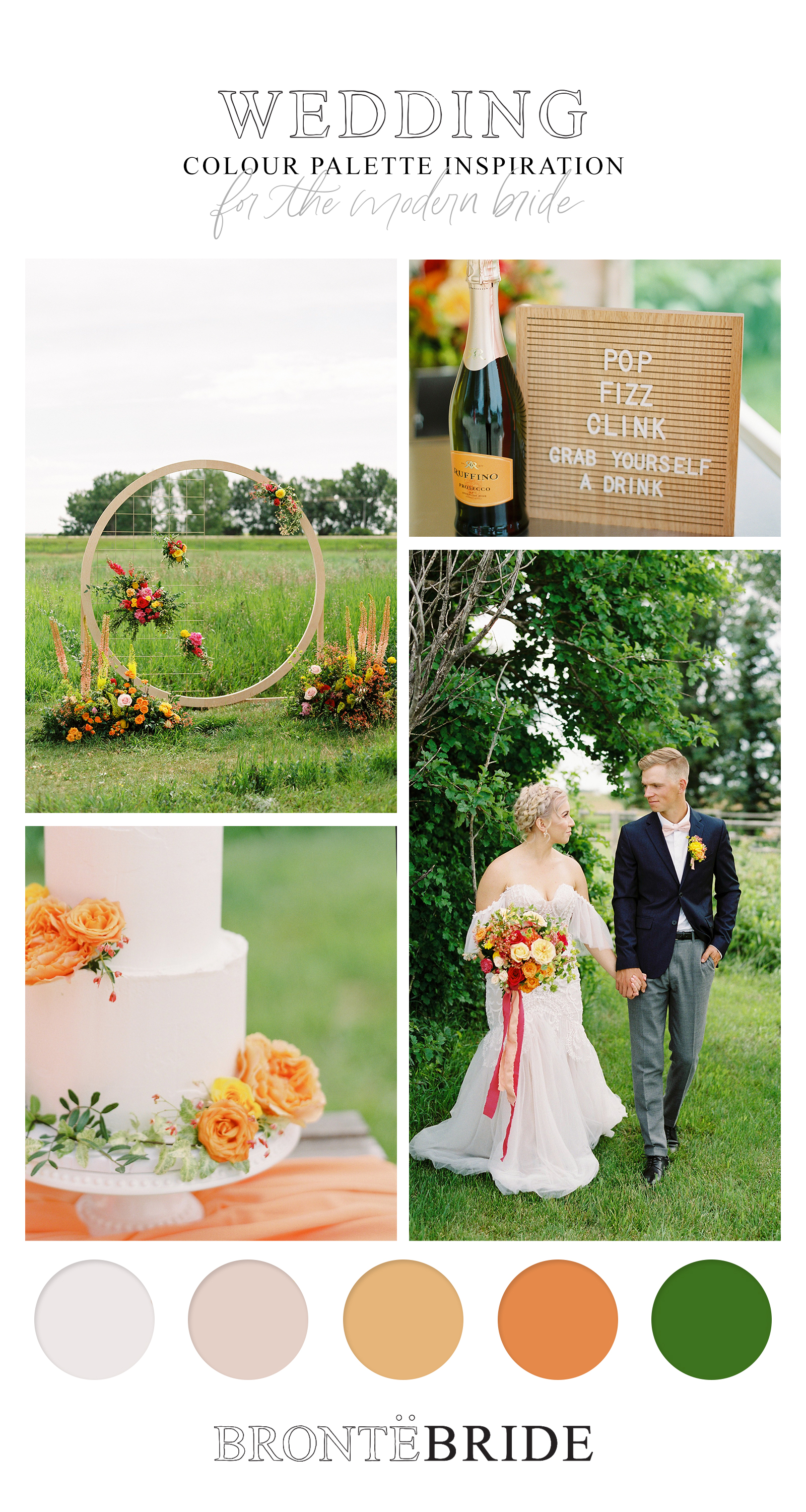 Farmhouse Chic: A Vibrant Wedding Inspiration Shoot at the Gathered - Wedding Colour Palette Inspiration - on the Bronte Bride Blog