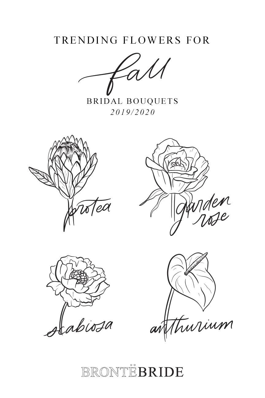 On the Bronte Bride Blog - Trending Flowers for Fall Weddings