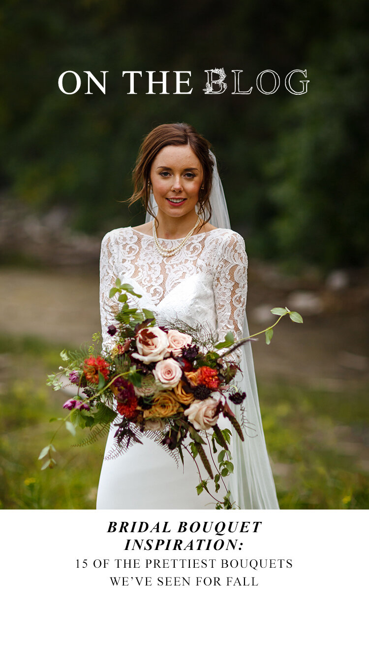 Bridal Bouquet Inspiration for Fall: 15 of the Prettiest Bouquets We've Seen This Autumn in Alberta and the Rockies - on the Bronte Bride Blog