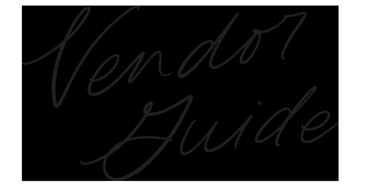 Bronte Bride Vendor Guide