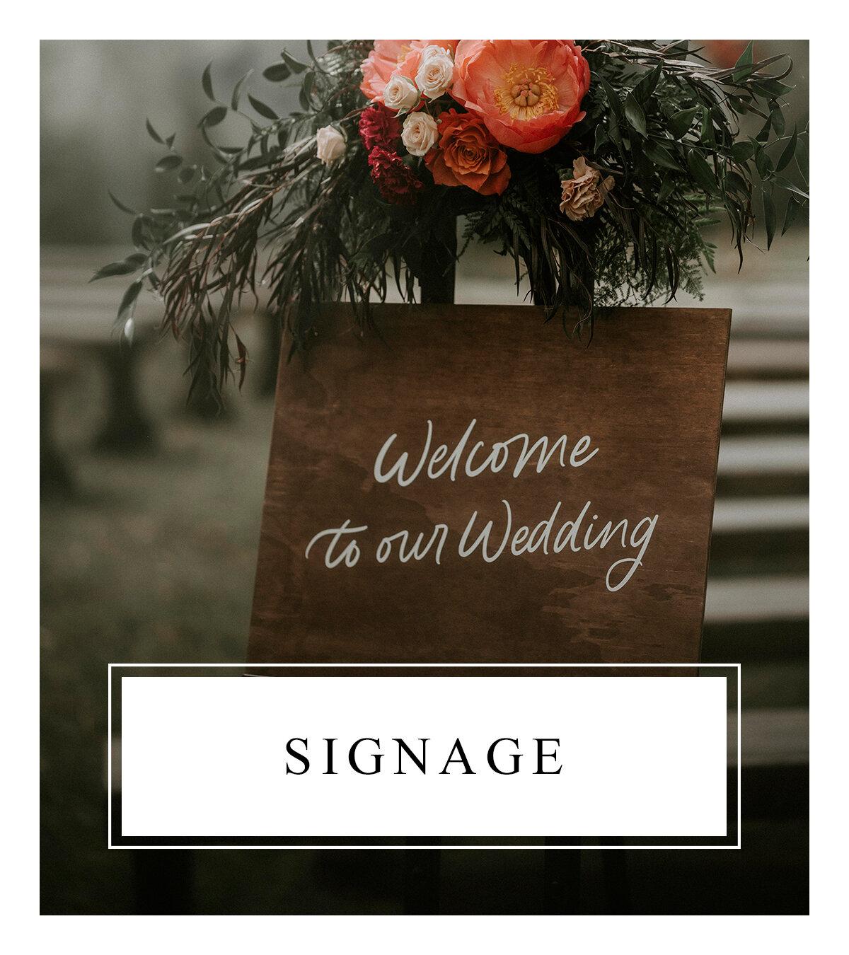 Bronte Bride - Alberta Wedding Vendor Guide - Signage