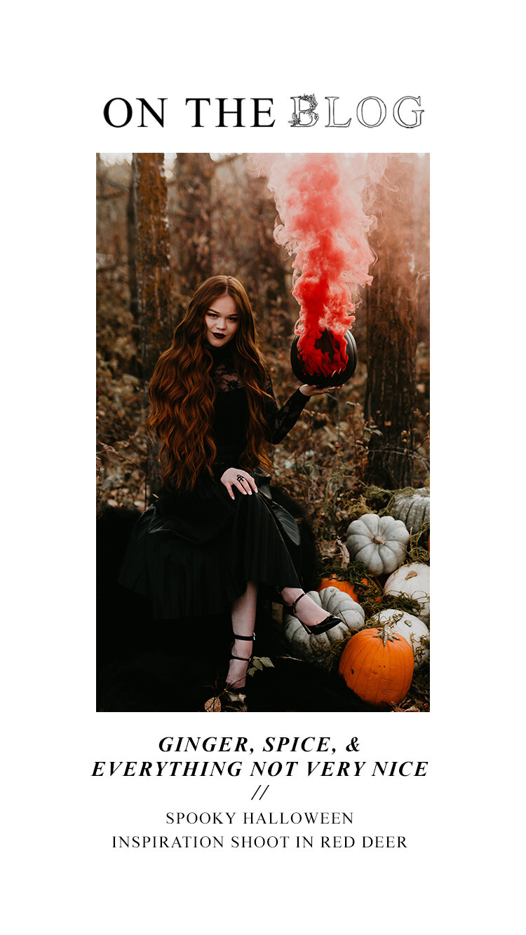 Ginger, Spice, & Everything Not Very Nice // Spooky Halloween Inspiration Shoot in Red Deer
