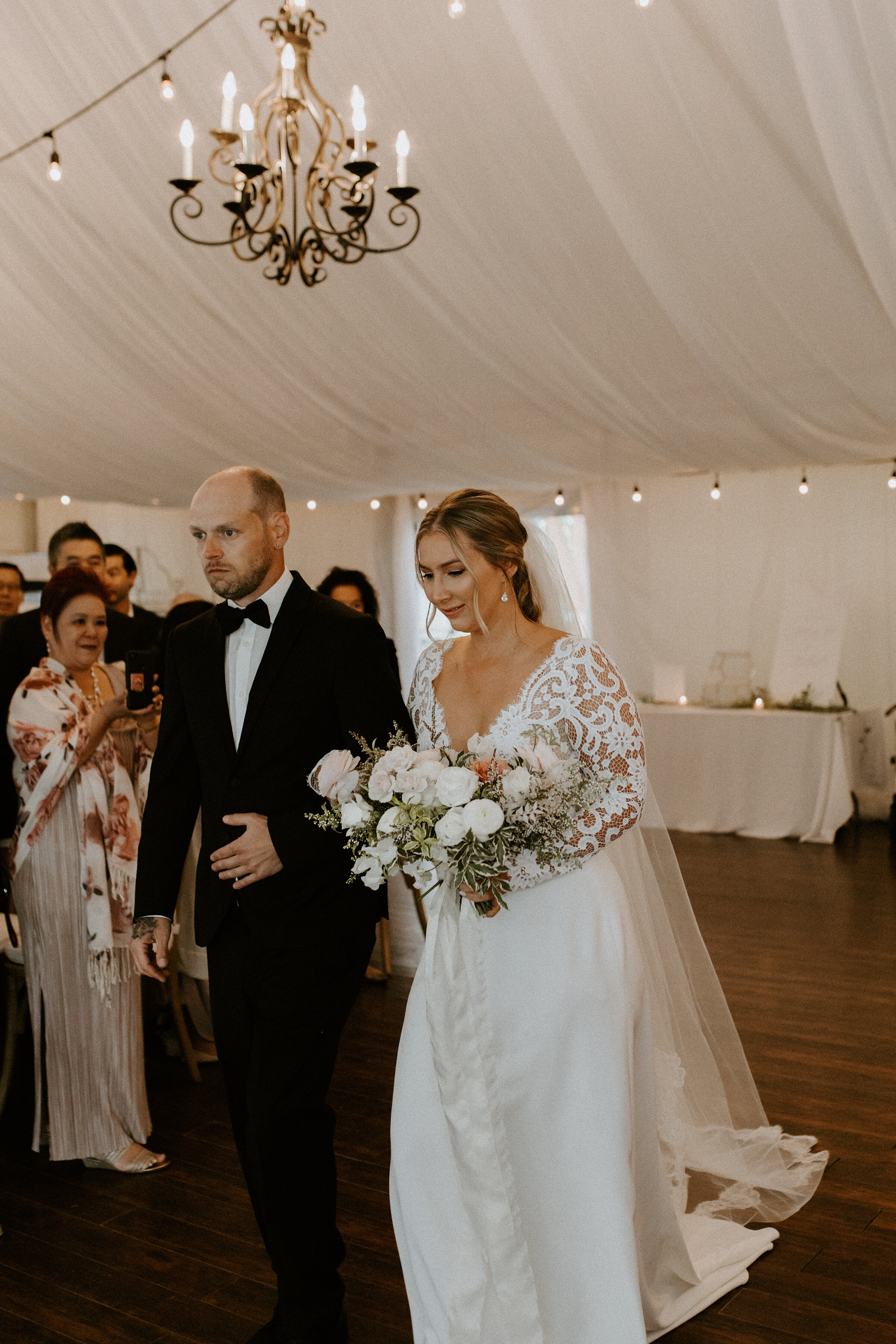 Vintage Glamour Meets Chic Romance at Meadow Muse // Stacey & Michael - on the Bronte Bride