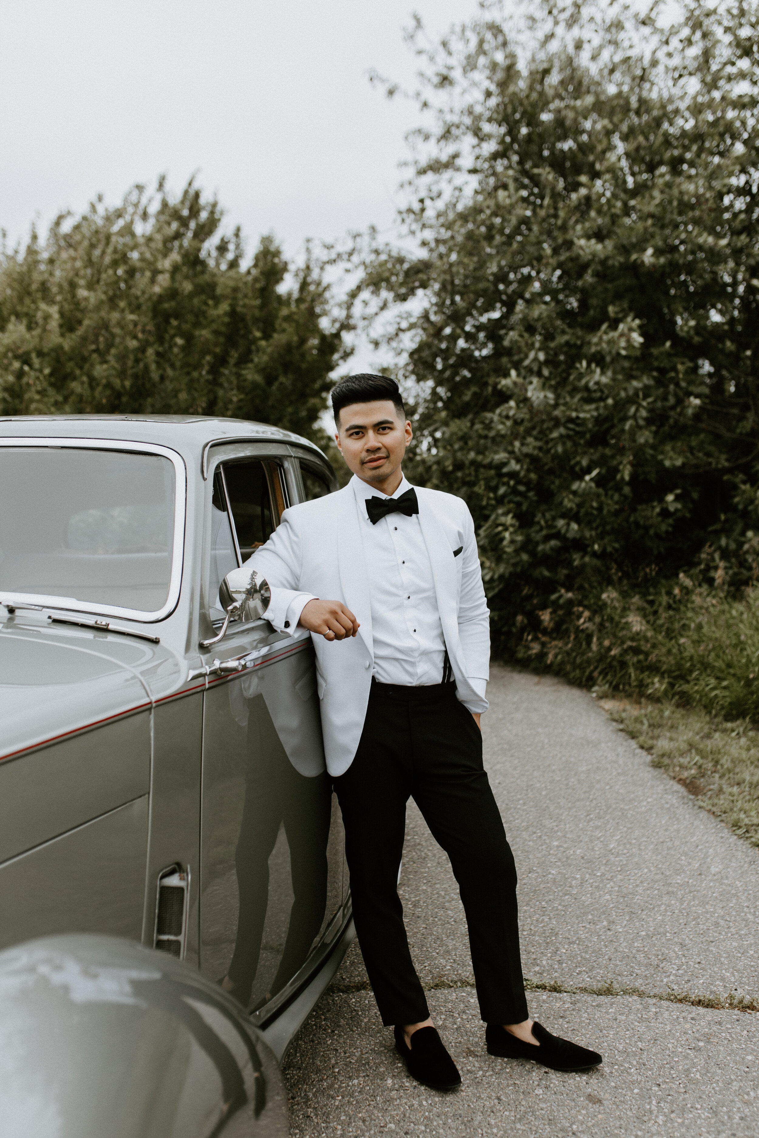 Groom - Wedding Style Inspiration - Vintage Car Rental