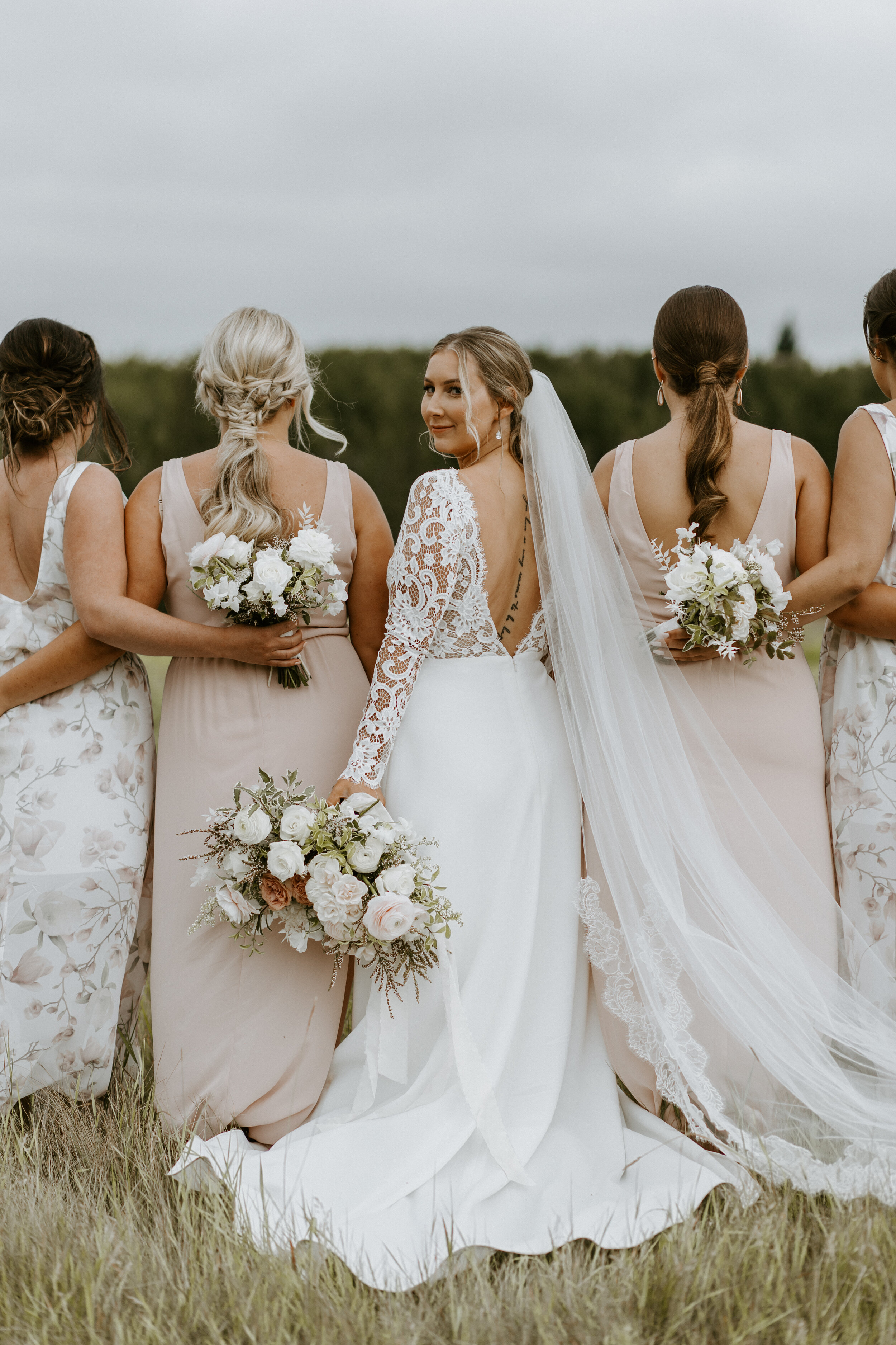 Bride and Bridesmaids - Bridal Party Wedding Style Inspiration