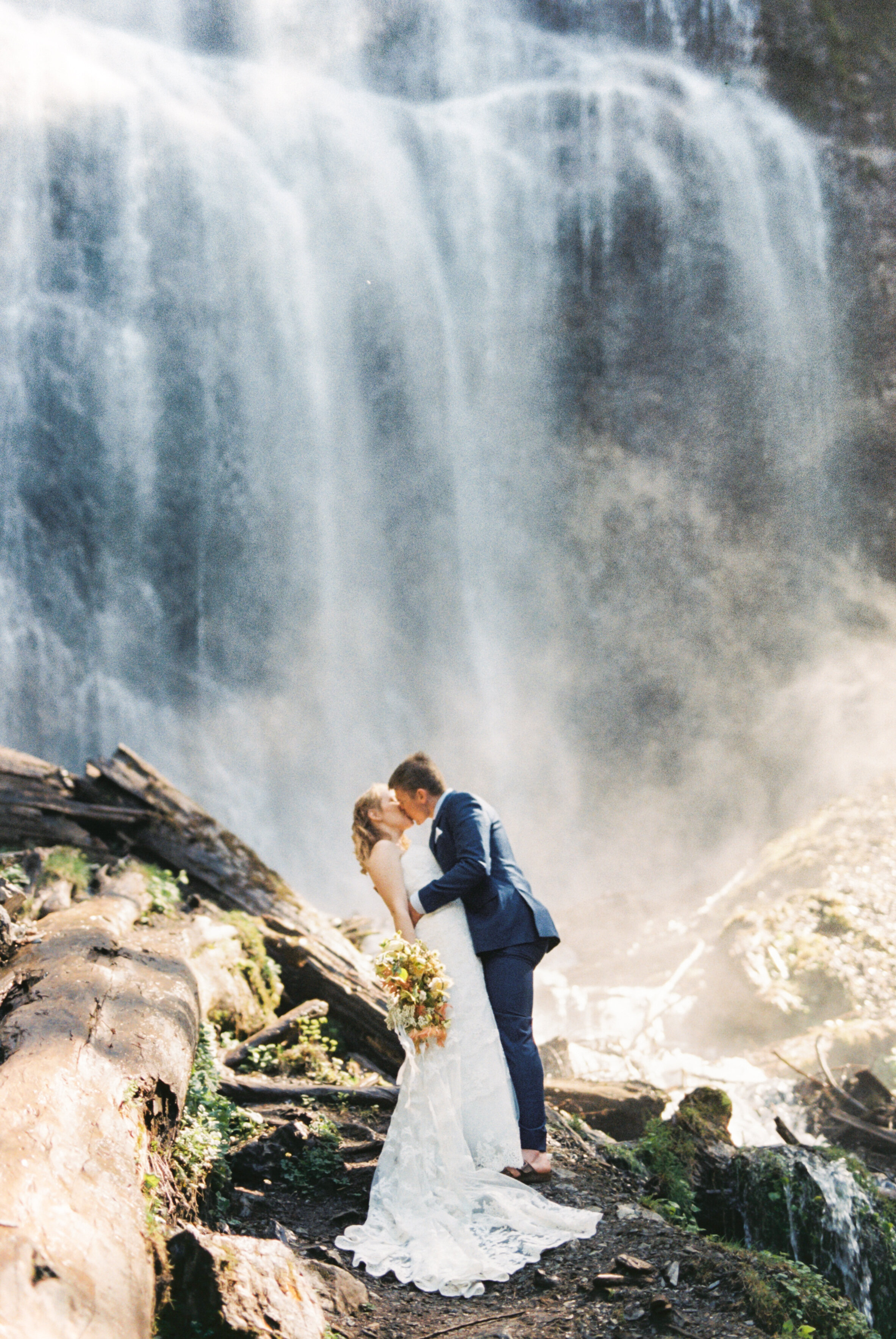 Stunning Elopement-style wedding Featuring Waterfall Kisses & Helicopter Adventures // Kathryn and Richard - on the Bronte Bride Blog