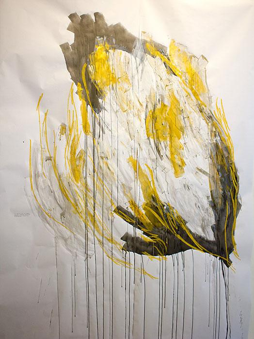 Domus aurea , performance drawing, 2017