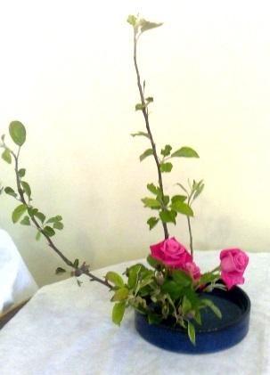 Basic moribana arrangement