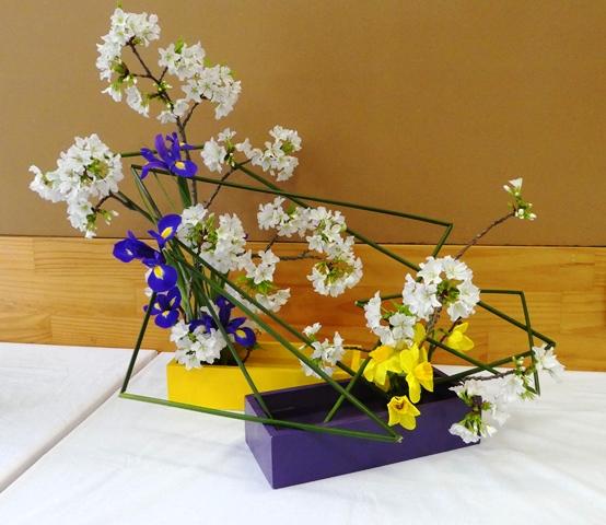 Jackie - blossom, irises & daffodils