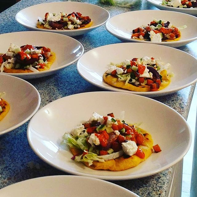Veggie dishes tonight. A cool little squash feta onion flatbread and a stuffed aubo. Flavours better than presentation this time. Lots of happy people. #privatechef #cornwall #bude #tasty #padstow #cornwall