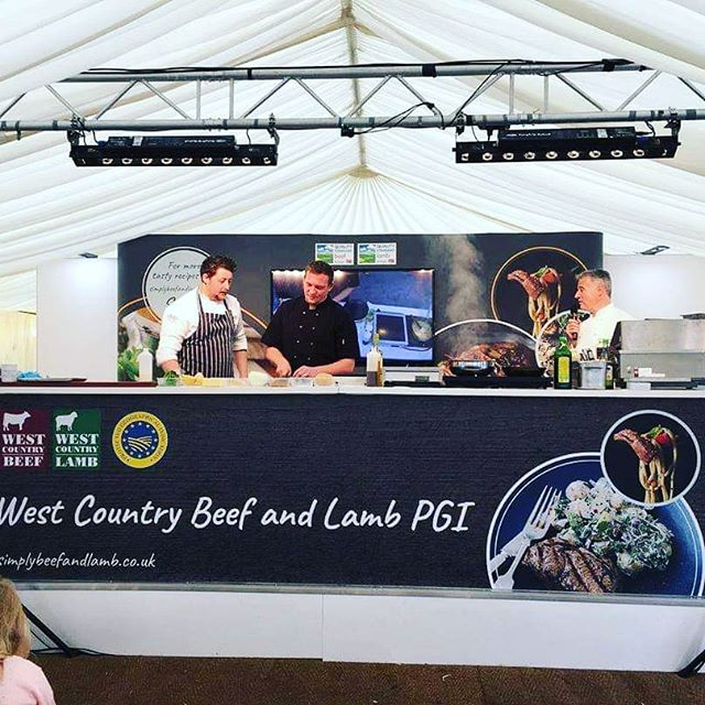 Great demo with @timk87 for the olive tree bude and @joesimmondsprivatechef @budelicious_food_festival