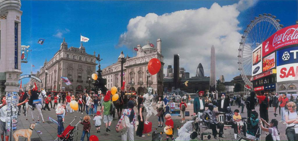 Photo collage of London by David Mach, RA