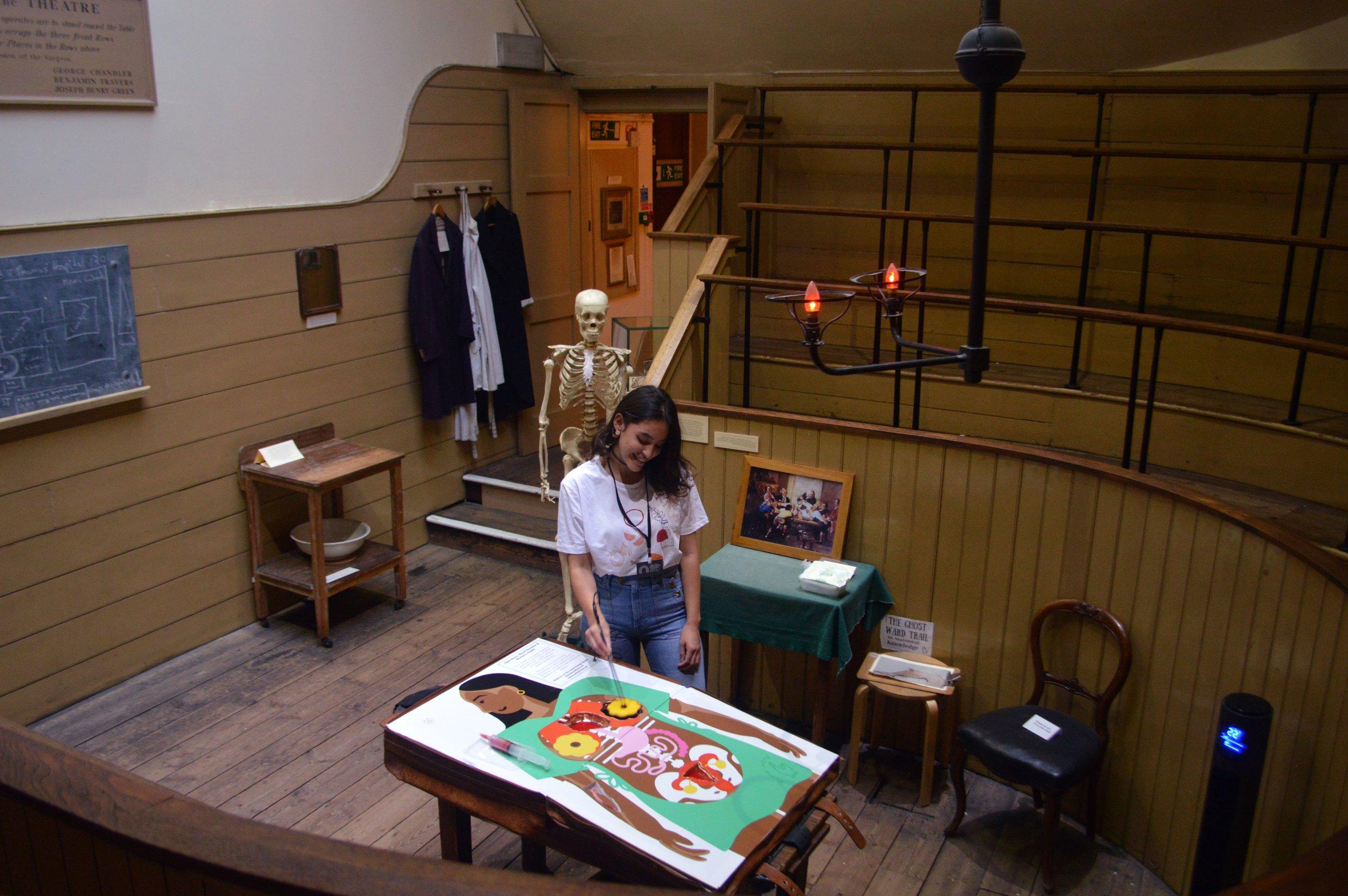 Sophia setting up operation game