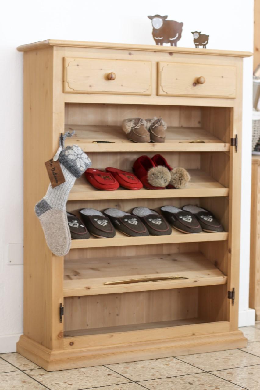 Schuhschrank Fichtenholz