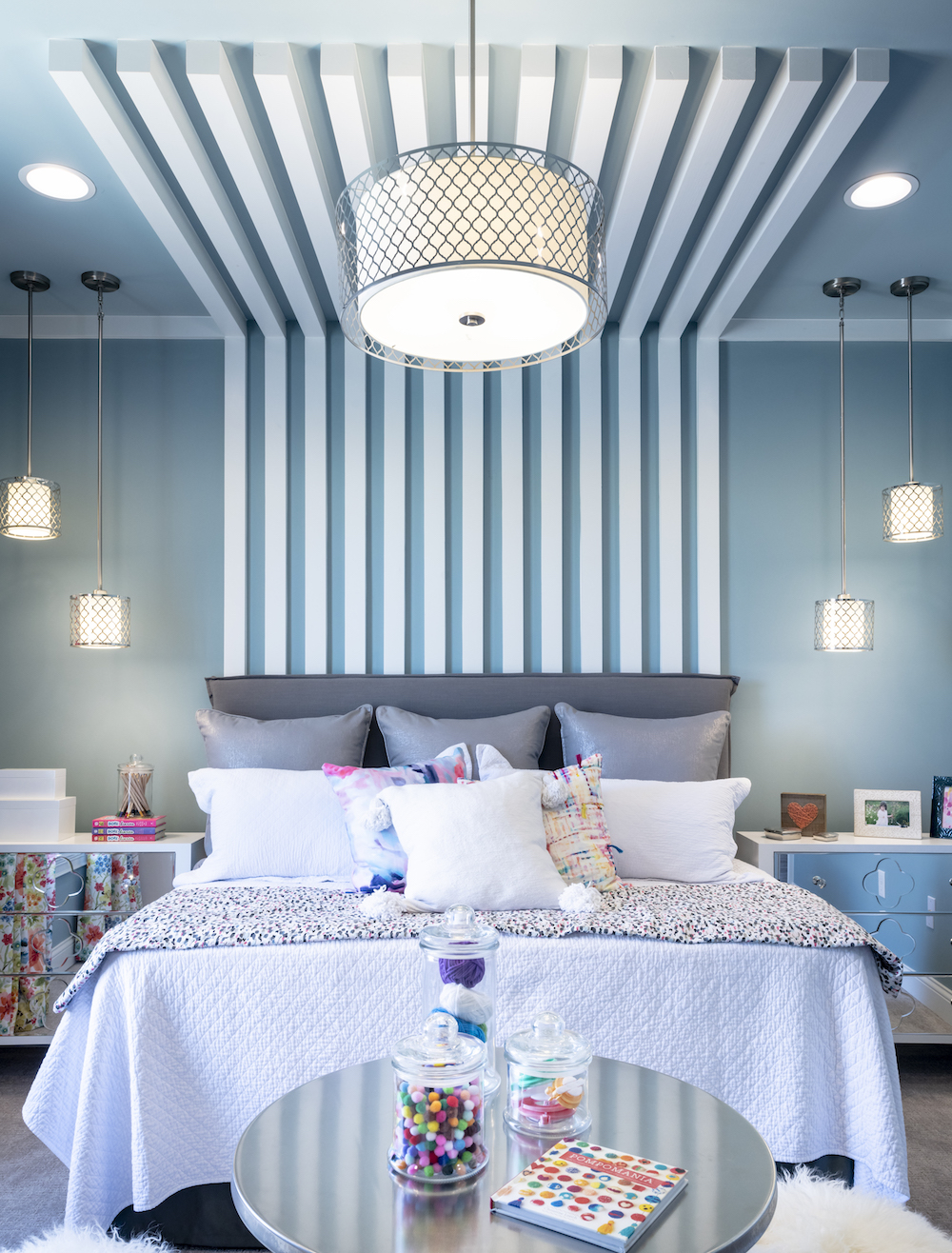 Architectural Interior, Residential Interior, Blue Bedroom