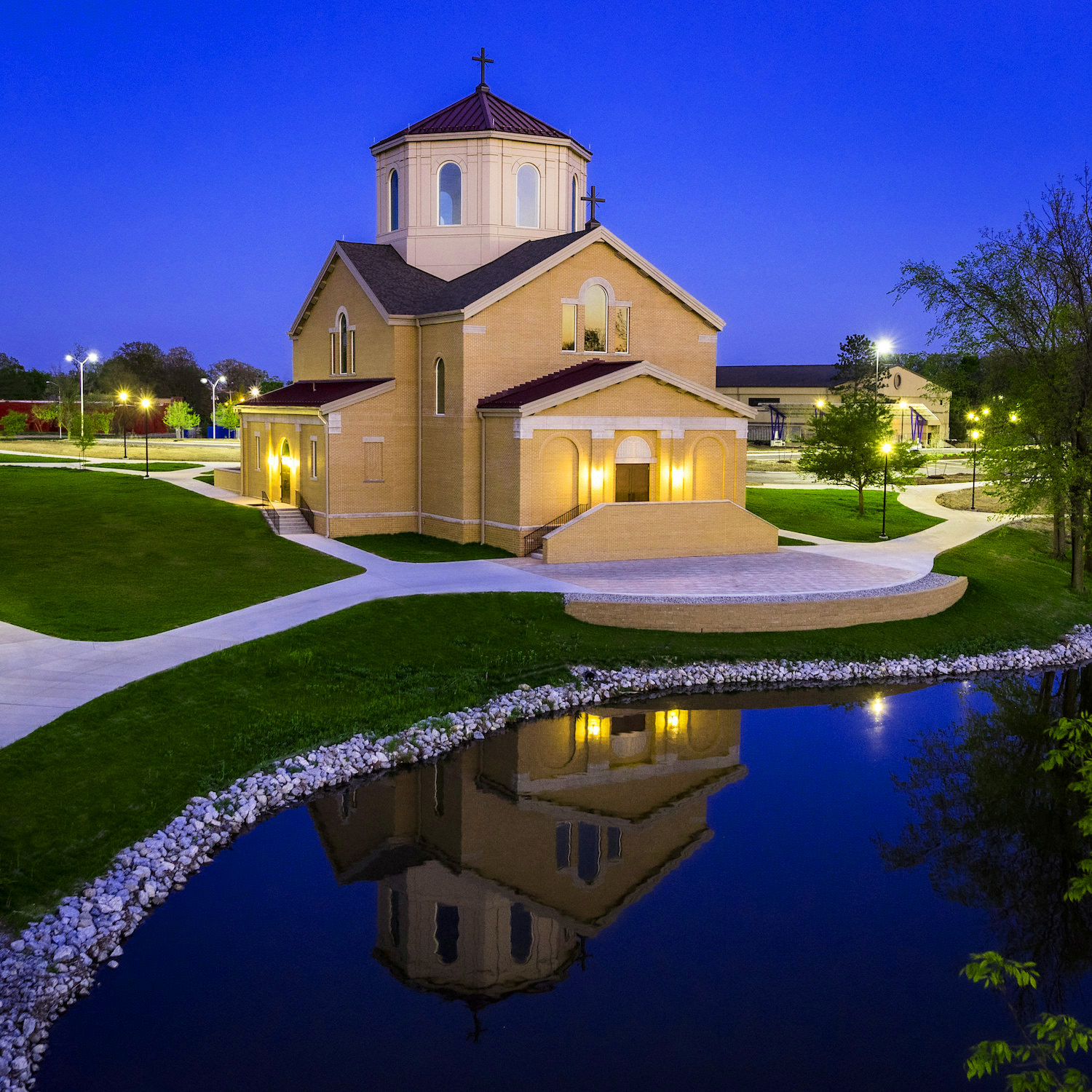 Architectural Exterior, Place of Worship, Church, Chapel, Exterior Dusk