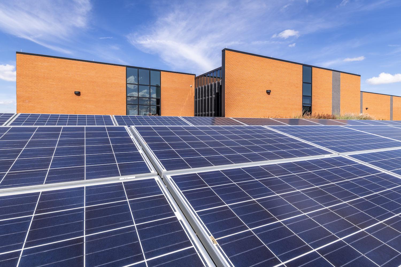 Architecture Exterior, Commercial Exterior, Solar Panels, Data Center