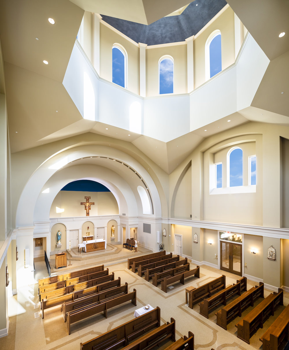 Architecture Interior, Place of Worship, Church, Chapel, Sanctuary, Vertical Panorama