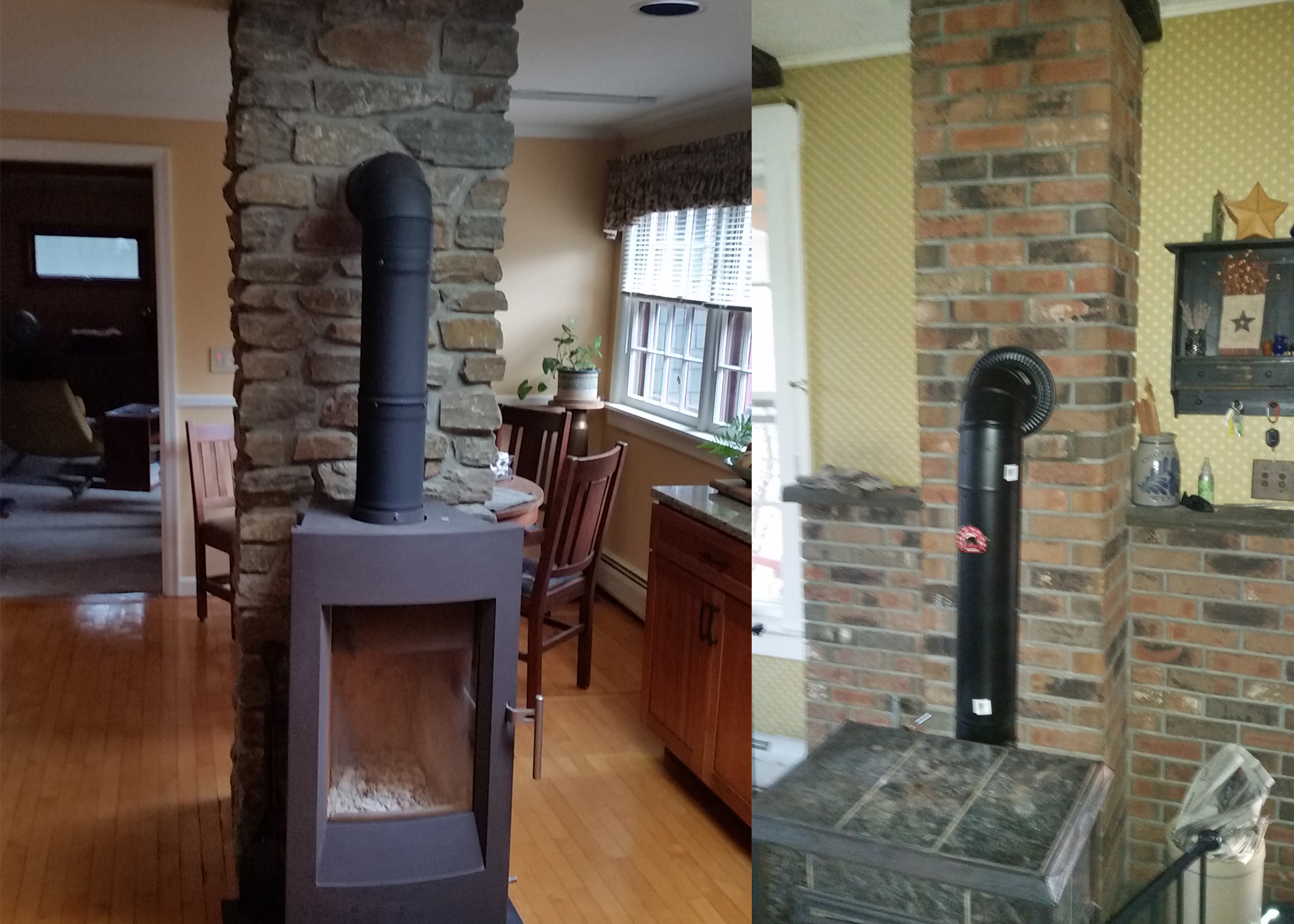 Stove Pipe installation -