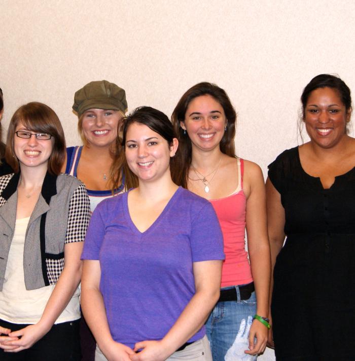 Fall 2011 : (L-R) Laura Donohue, Maura Hall, Emma Berke-Williams, Sally Derr, Mikayla Upchurch