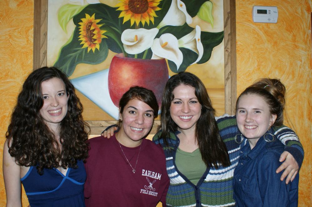 Fall 2013 : (L-R) Mary Tierney, Lena Flores, Arielle Webb, Sarah Kenny