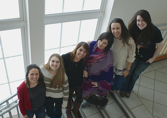 Spring 2014:  (L-R) Arielle Webb, Sarah Kenny, Lena Flores, Kübra Kasikci, Olga Galperin, Aubrie Hampp