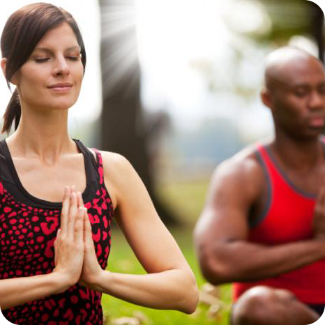 Yoga classes offered in downtown Morganton have many health benefits.