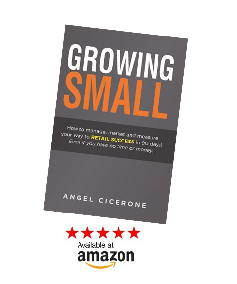 The New Manifesto for Retail Success! - For years, Tenant Mentorship programs have been transforming independent retailers and restaurants into best-in-class operators on behalf of retail property owners across the country. Now, Angel Cicerone, founder and president, has written Growing Small, a playbook of the exact process that has helped these small shops achieve 10-200 percent revenue increases in just 90 days!For information on bulk sales, email programs@tenantmentorship.com