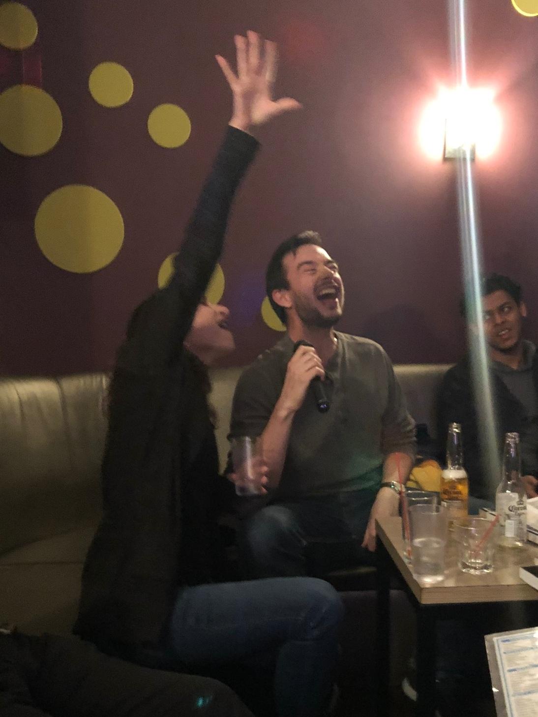 Appropriate levels of karaoke enthusiasm