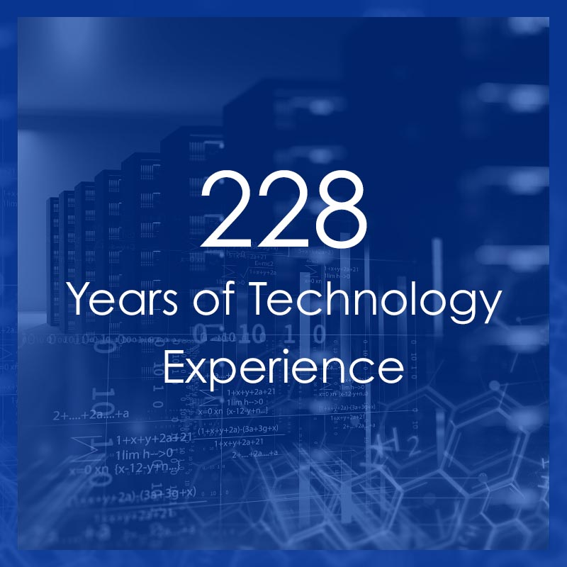 Technology By Design has a combined 228 years of technology experience.
