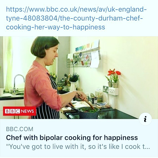 Here I am on the @bbc ! Talking about how cooking to match my mood helps me. #bbc #cookyourselfhappier #bipolar #mentalhealthawareness #mentalillness #cookingtogether #cooktogether #cooktomatchmood #happycooking @bipolar_uk @mindcharity @charitysane @heads_together @yvettecaster #chef  #anxiety #depression #mindfulness #mindfulchef #mindfulcooking #film #filming #studio #studiokitchen #foodphotography #foodstyling #foodstylist @infokgphoto @bankstudio7 @neechamber #newcastle #countydurham #northeast
