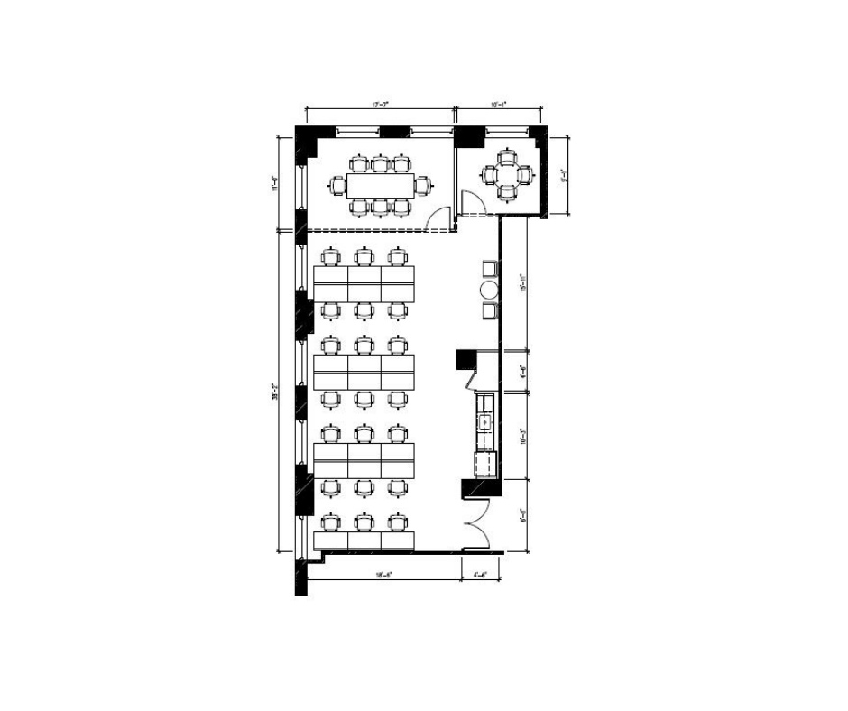 Suite 2801: 2,200 - Corner unit with great natural light with East and South views. Landlord will building a high-end, creative installation.