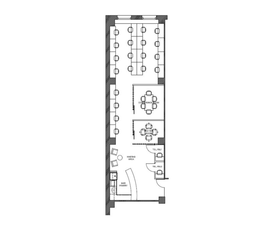 Suite 708: 2,100 RSF - Creative office space with a conference room, breakout room, two built in phone-booths, wet pantry with open area. Available January 1, 2019