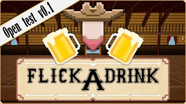 Hey hey! FlickADrink v0.1 is live in google play. Help a man out and test my first mobile game!  Link in bio!  It's still in early development, but I think it's time to start open testing.  #androidgames #ue4 #gamedev #indiegames #mobilegame #wildwest #indie #western #android #instagaming #gamestagram