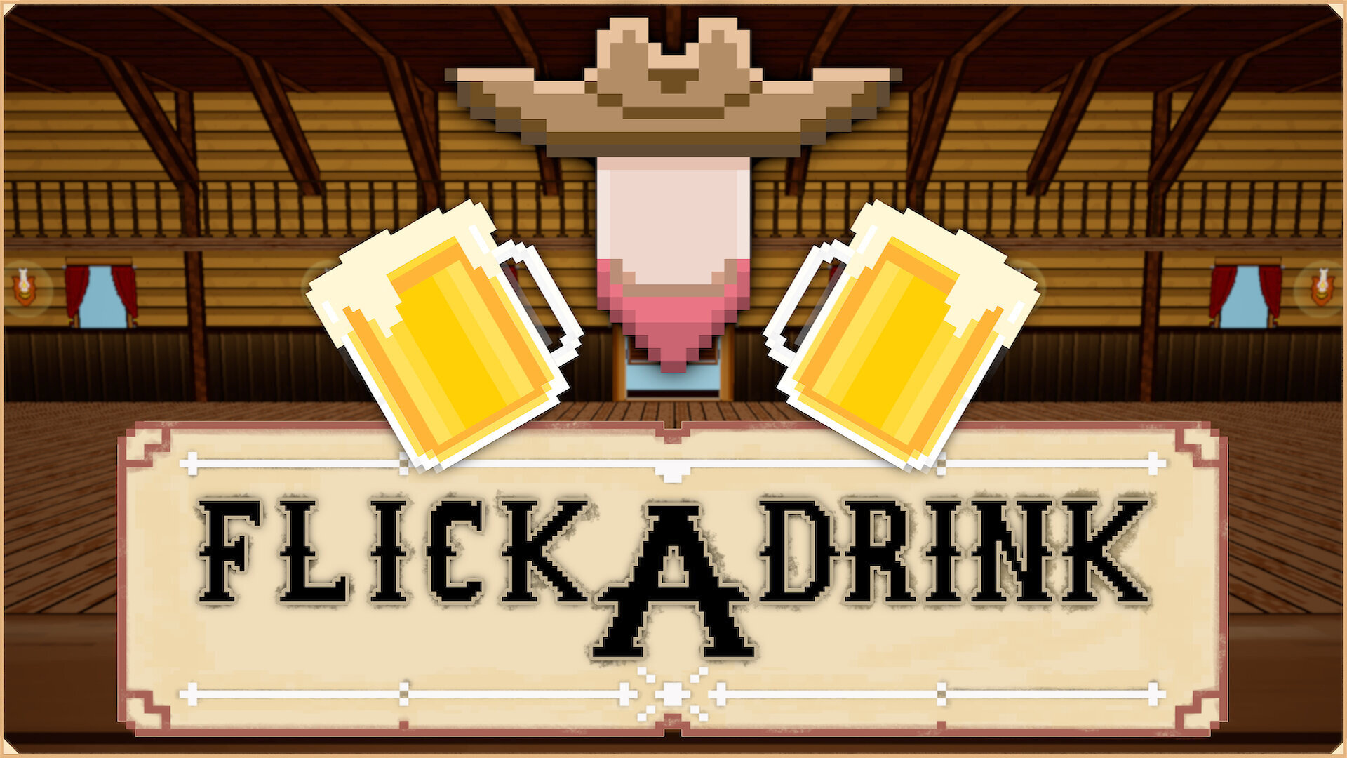 Download FlickADrink - Try out my first mobile game! It's a western a minigame town filled with activities.