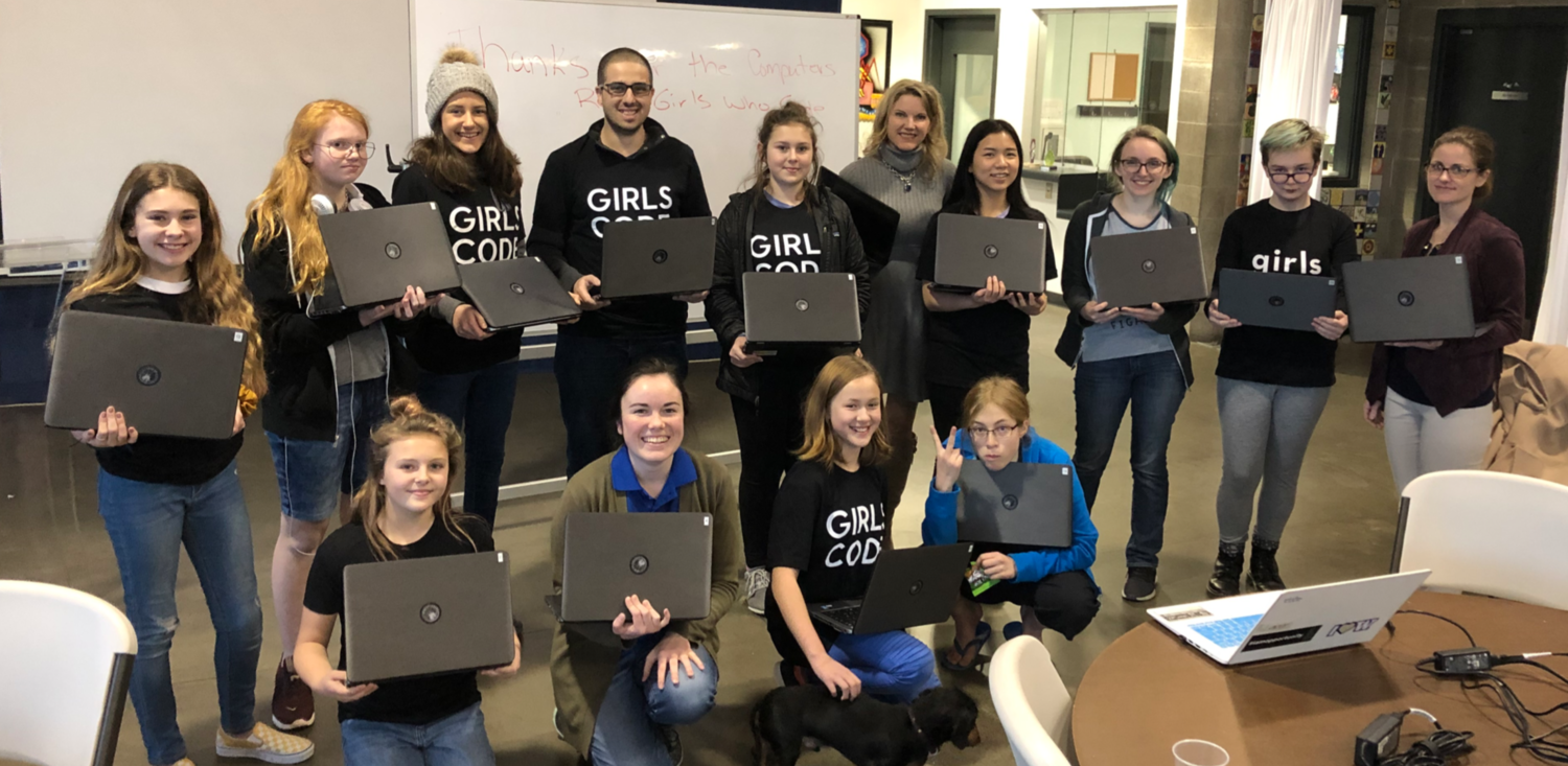 Meet some of the RAIN Girls Who Code on another Happy Tuesday!