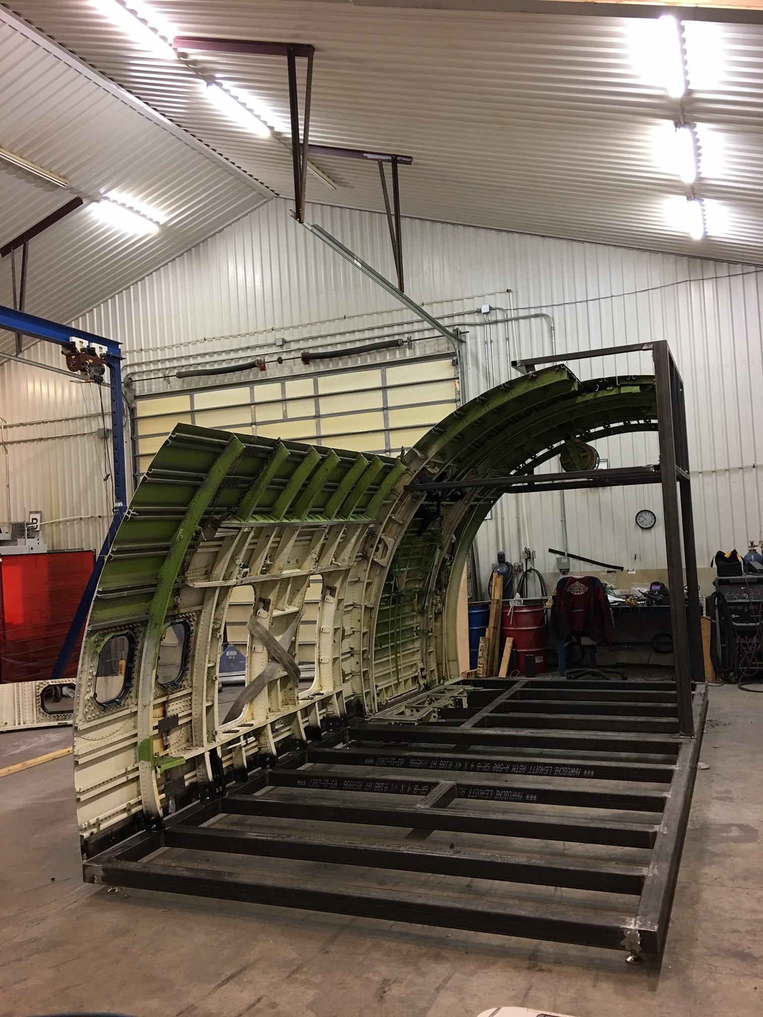 B-767 L1 and Overwing Exit Trainer Under Construction