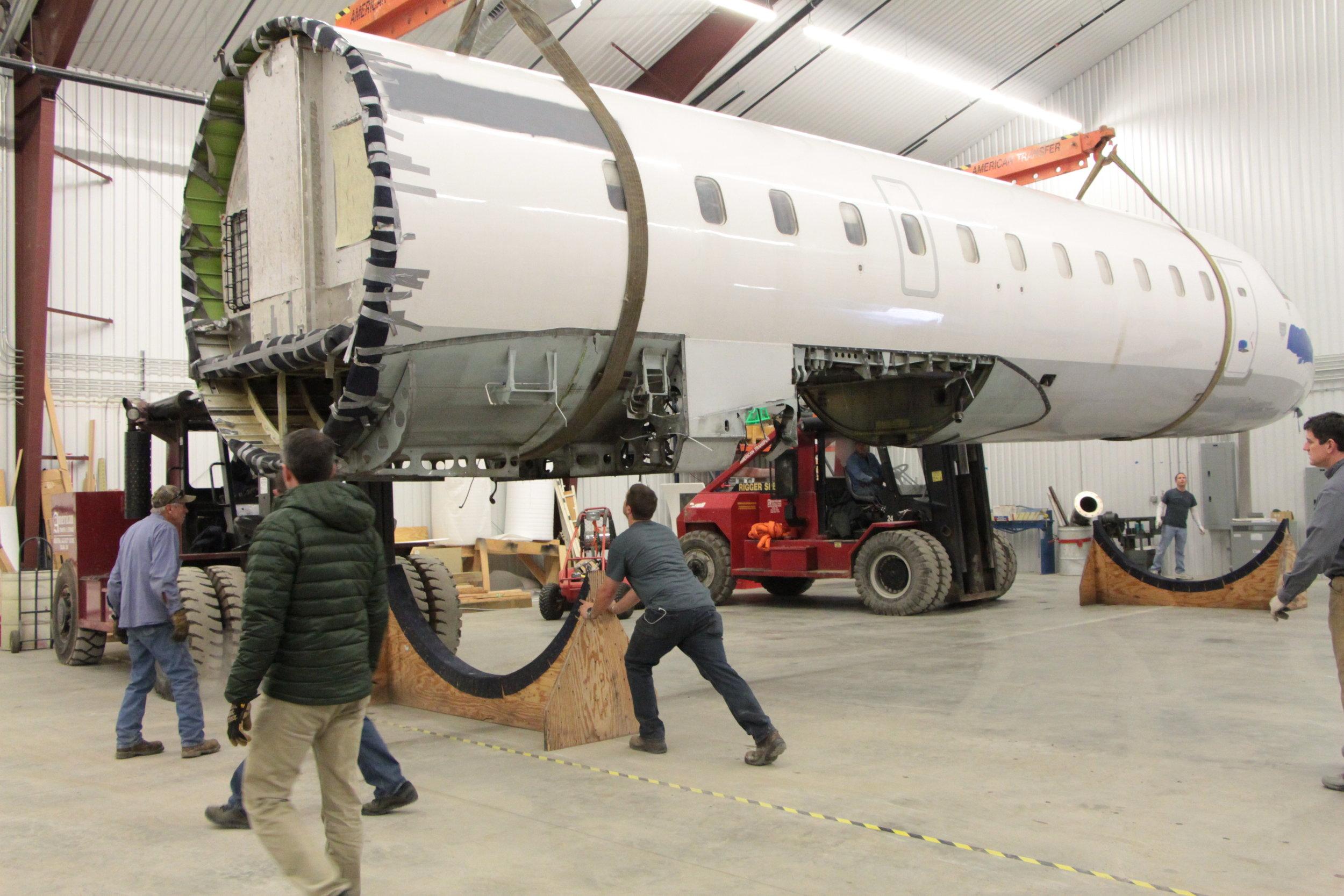 CRJ Cabin Trainer Under Construction