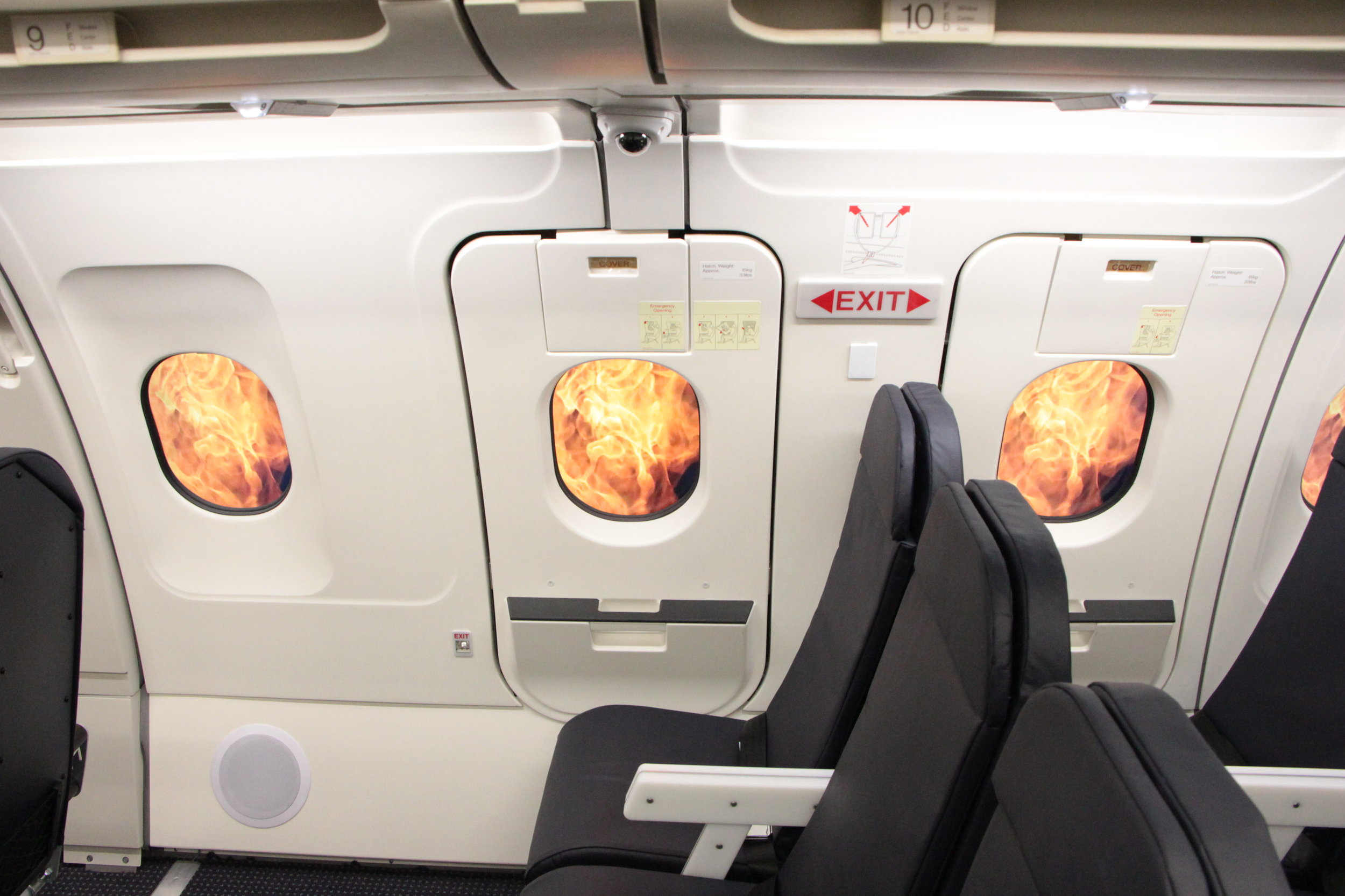 Overwing Exit Window Visual Simulation