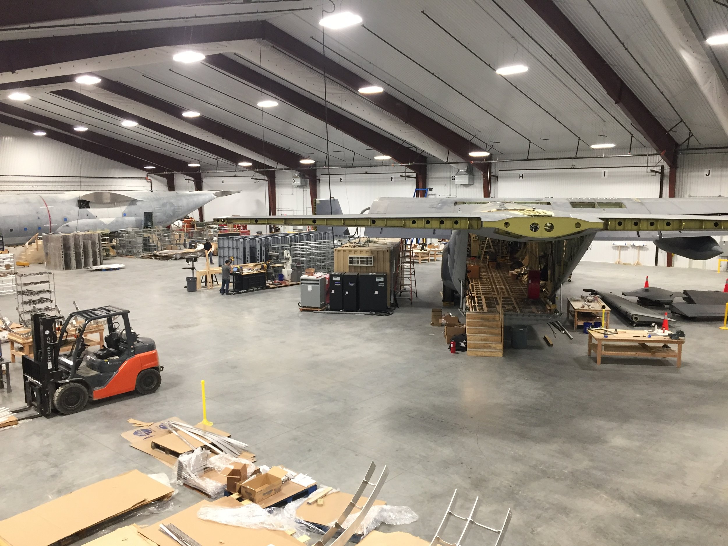 C-130 Fuselage Trainers Under Construction