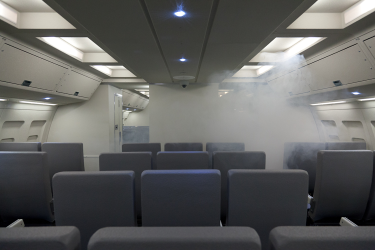 Federal Air Marshals Train With Smoke In The Cabin