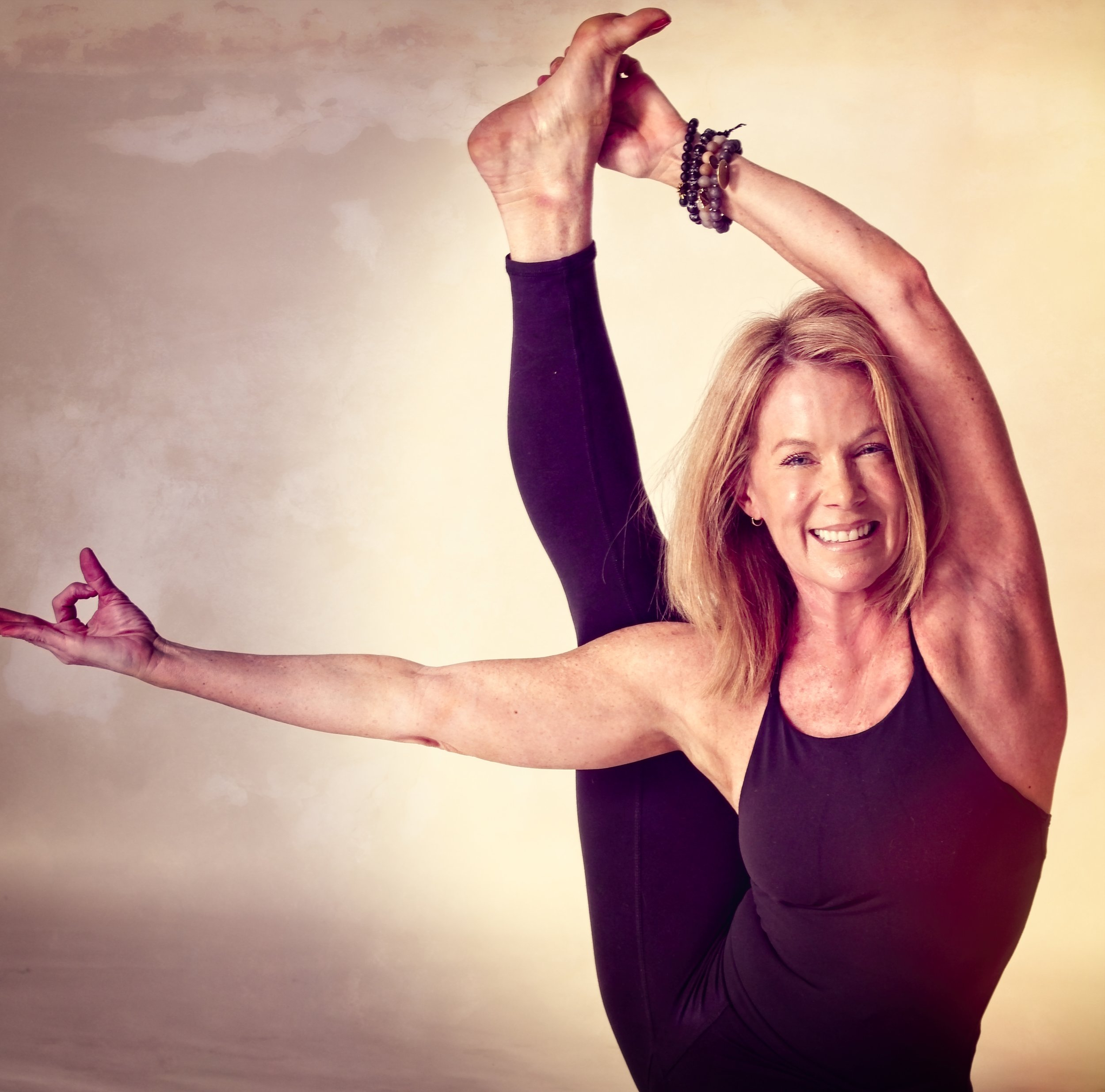 Stacey Allen - Stacey will kick your butt with a smile, and inspire you with her motivational mantras. She takes yoga from the mat, to day-to-day challenges and encourages her students in every practice.
