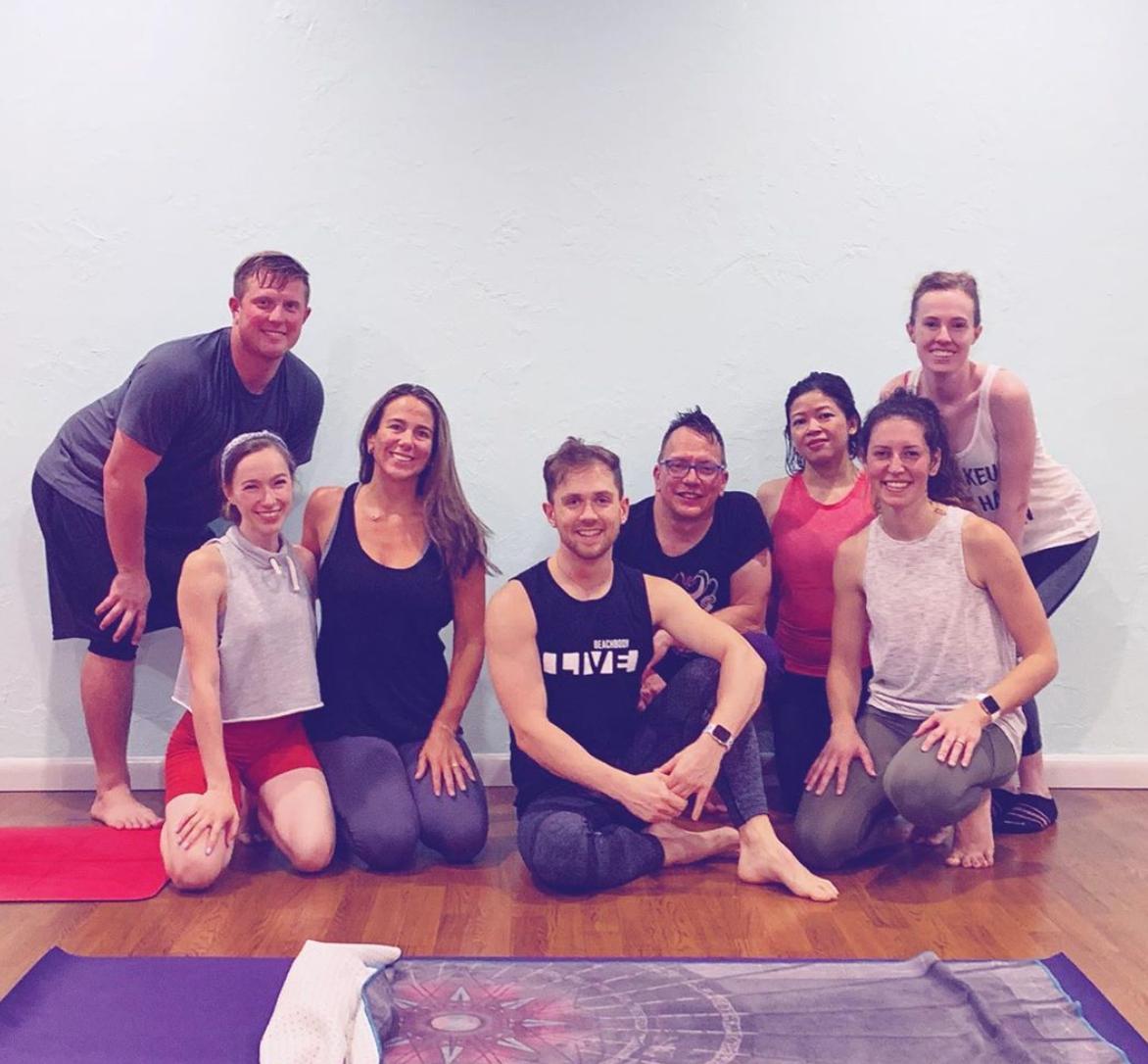thor teaChing the wonderful ways of piyo yoga. #bootyburn
