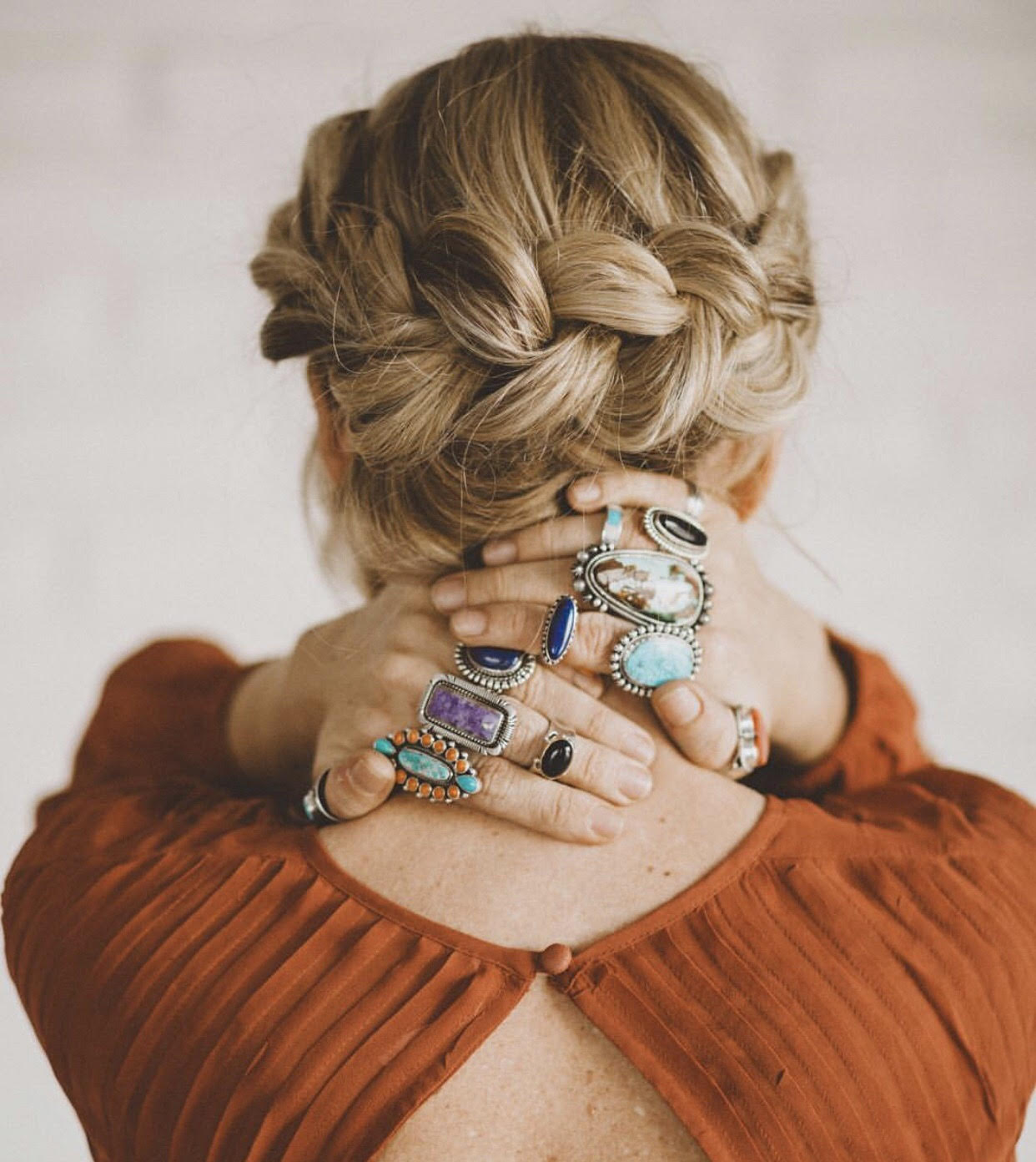 Southwest Silver Gallery  Photographer: Jessica Janae  Model: Hilary Hamilton  Hair Stylist: Abigail Hill