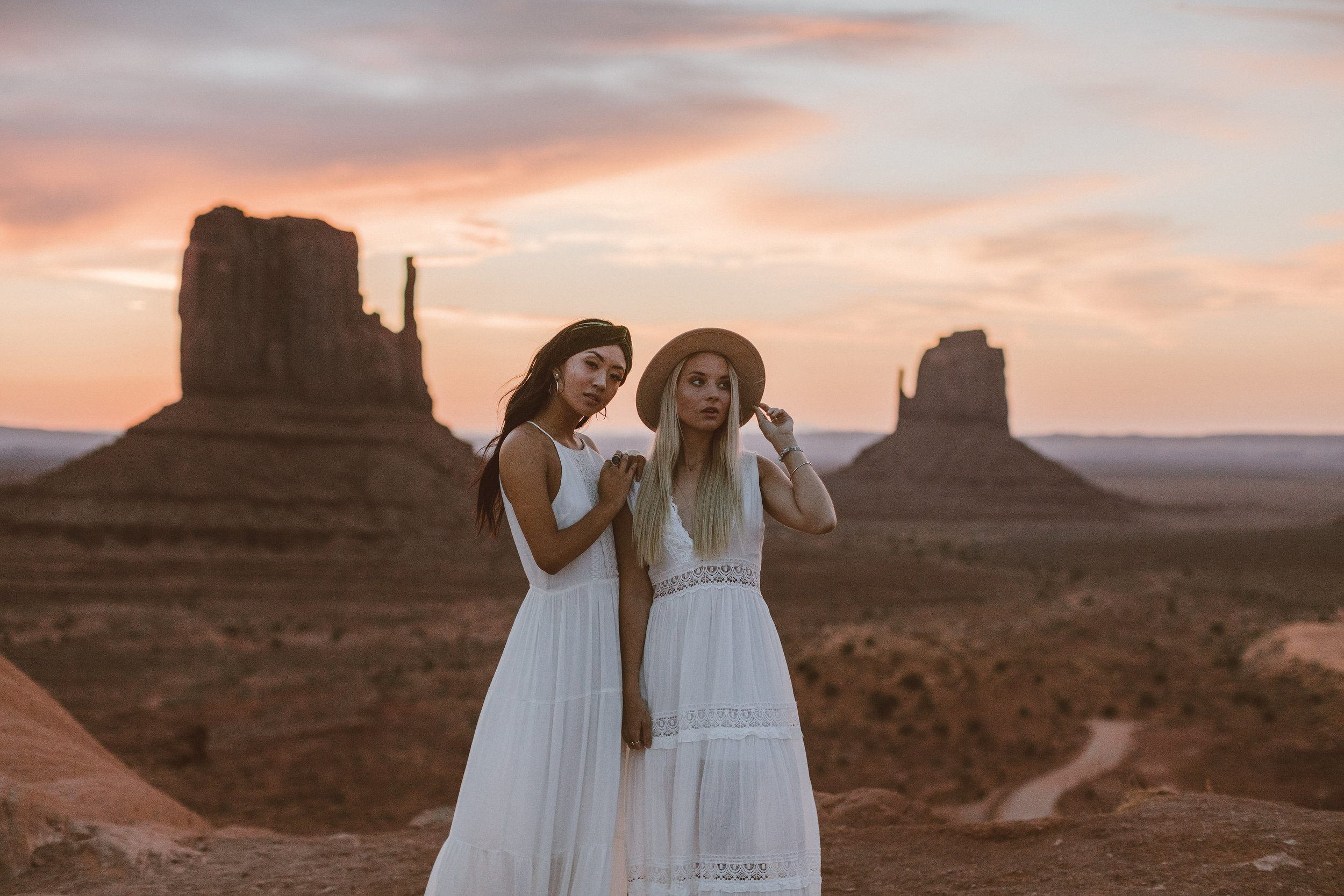 Monument Valley  Photography: Ashley Jensen  Models: Jiajing Yi, Marissa Stagg  Hair, Makeup & Wardrobe: Abigail Hill