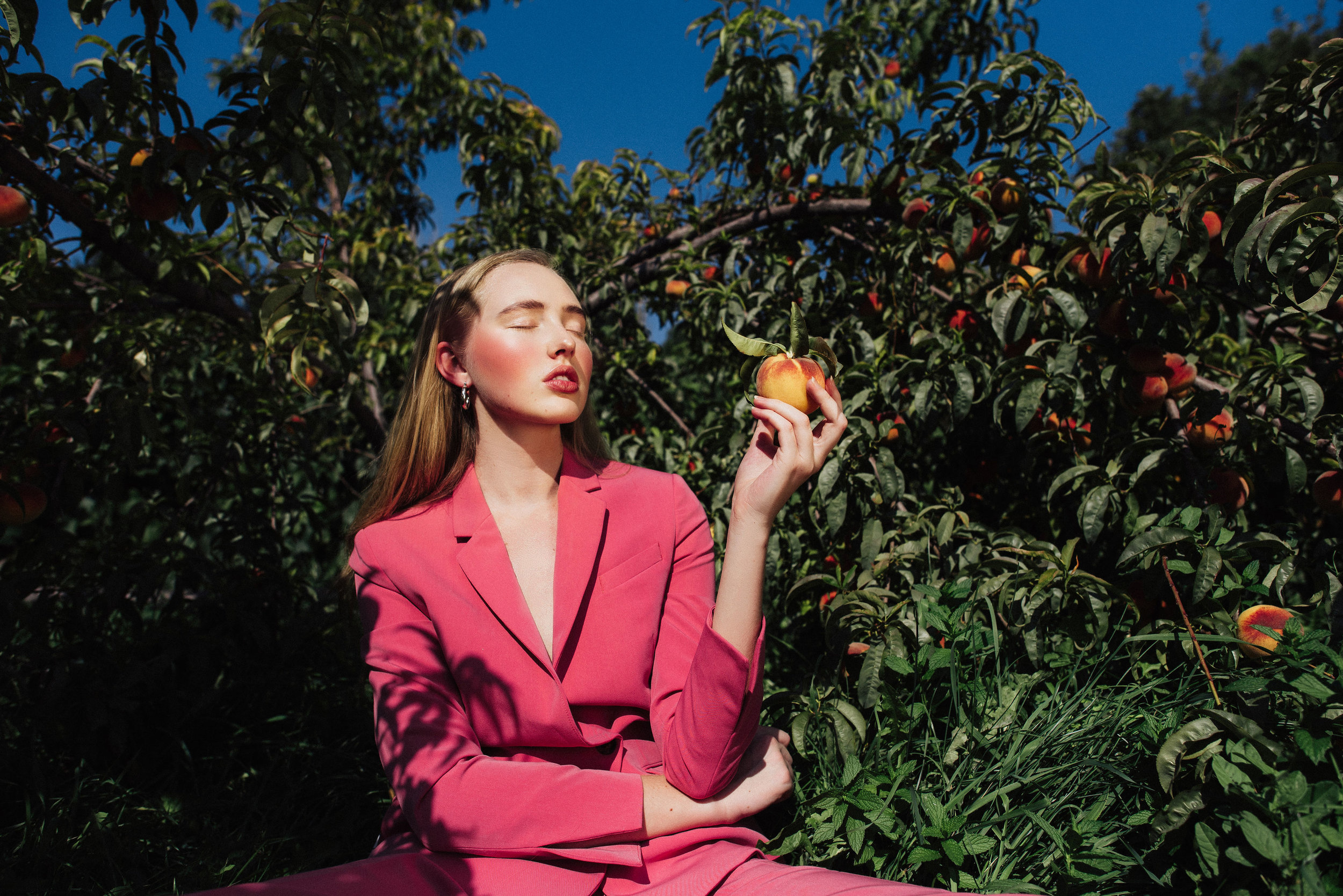 Peaches and Pink  Photographer: Eden Strader  Model: Hailey Beths  Makeup & Wardrobe: Abigail Hill