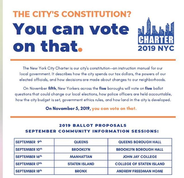 See upcoming Community Information Sessions: 2019 Ballot Questions!! . . . . #like #share #ballot #vote #brooklyn #brooklyncommunity  #bronxcommunity  #queens #manhattan #statenisland